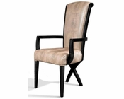 Dining Arm Chair w/ Transitional X-Leg 44D019