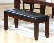 Dining Bench with Leather Seat in Dark Oak MO-2842BE