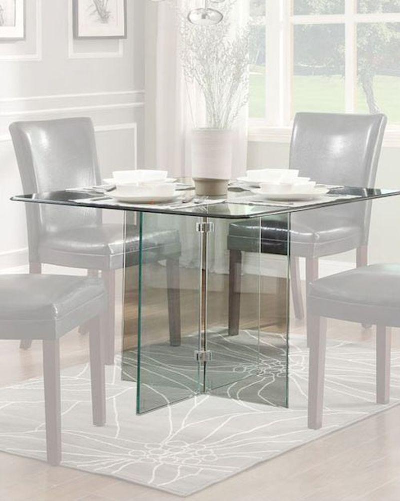 Dining glass table alouette by homelegance el 17811 for Glass top dining table next