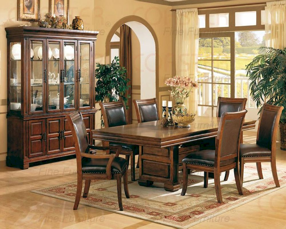 Dining room set in tobacco cherry for Cherry dining room set
