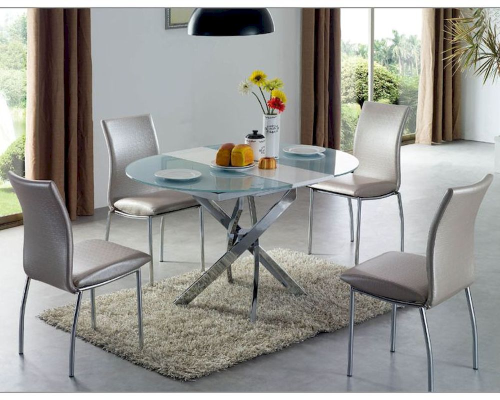 Dining room set w round table 33 2303set for Round dining room table sets