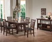 Dining Set in Distress Dark Walnut Luciano by Acme AC71430SET