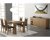 Dining Set Inez in Walnut Finish European Design Made in Spain 33D141