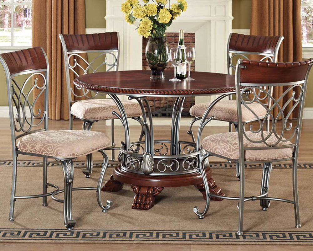 Dining set omari by acme furniture ac70100set for Dinette set with bench