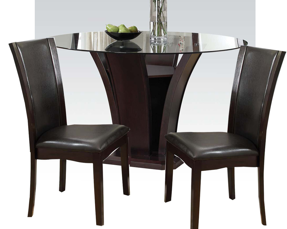 Dining Set W 54in Round Table Malik By Acme Furniture