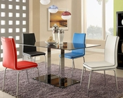 *Dining Set w/ Black Glass Table Goran by Homelegance EL-2534-SET