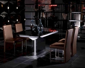 Dining Set w/ Black High Gloss Table 44D265BG-SET