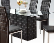 Dining Set w/ Clear Glass Table Abbie by Acme AC70714SET