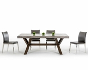 Dining Set w/ Concrete Rectangular Table 44D1501V-SET