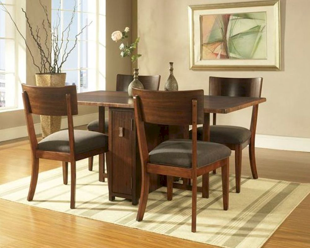 Dining Set W Gate Leg Table Perspective By Somerton So