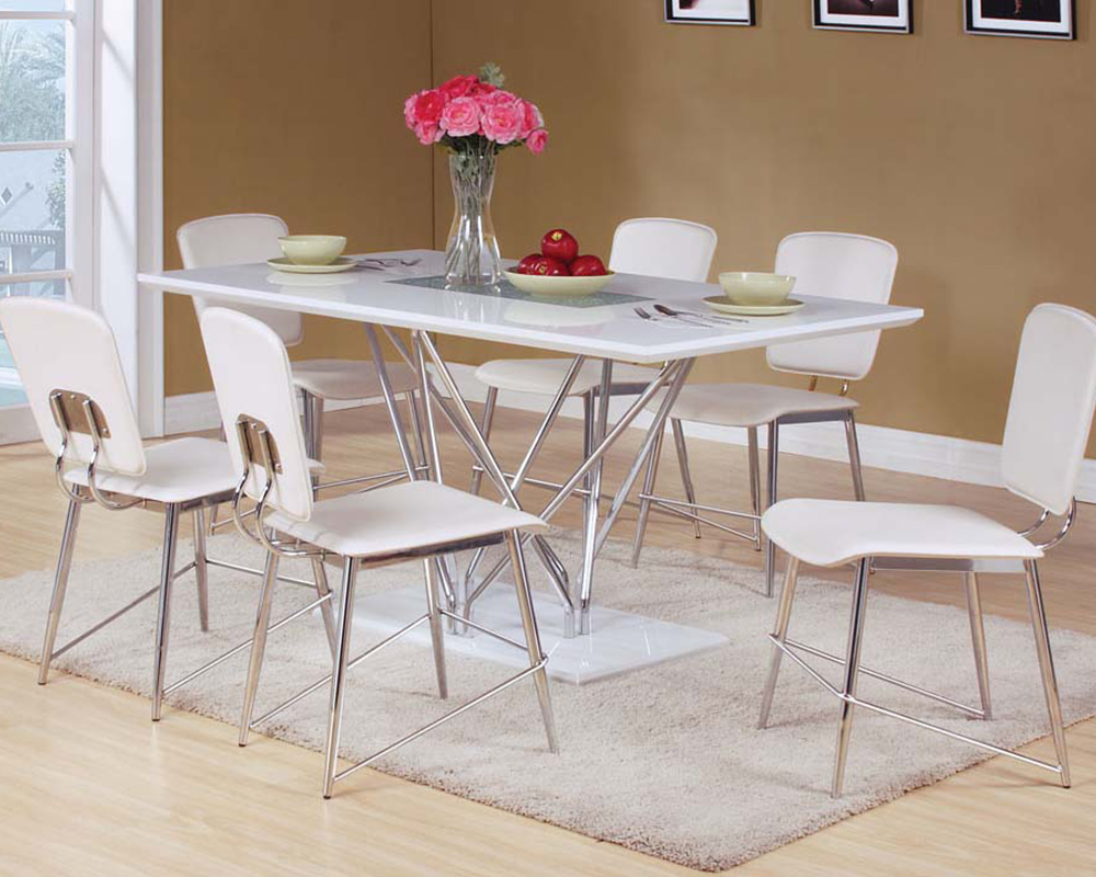 Dining set w glass insert table bari by acme furniture for Kitchen table with glass insert