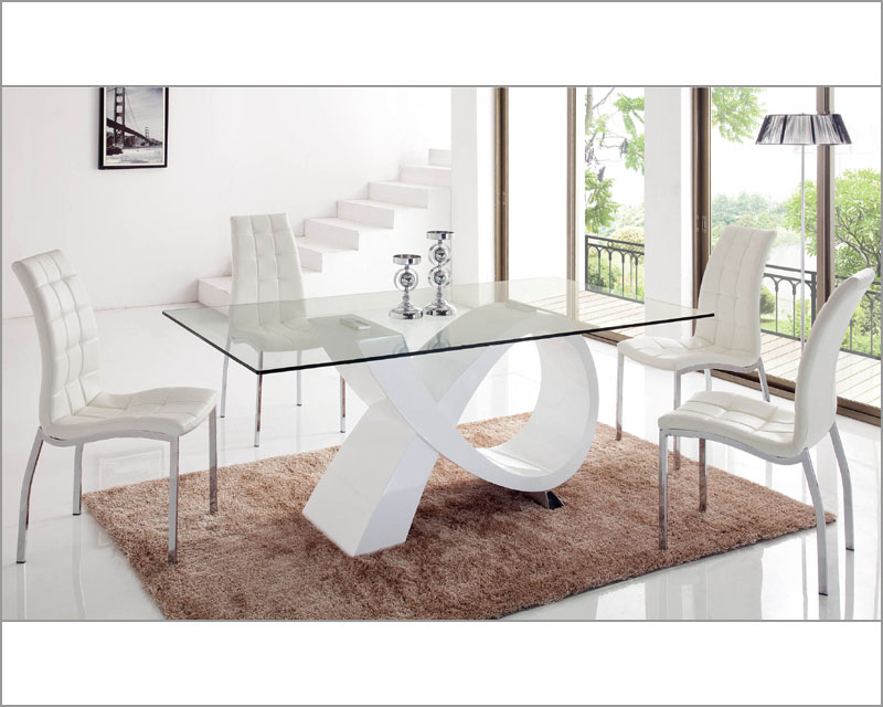 dining set w glass top table 33 989set