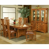 Dining Set W/ Leather Seat Chairs Bungalow By Ayca AY AP5 Set2