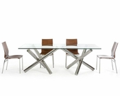 Dining Set w/ Rectangular Glass Table 44D08L-SET
