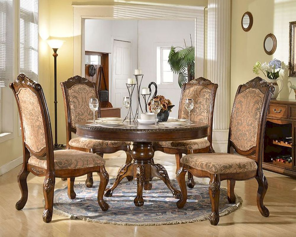 Dining Set W Round Table In Traditional Style MCFD8500 R