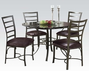 Dining Set w/ Square Table Daisy by Acme Furniture AC70157SET