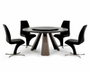 Dining Set w/ Wenge Round Table in Contemporary Style 44D8958-SET