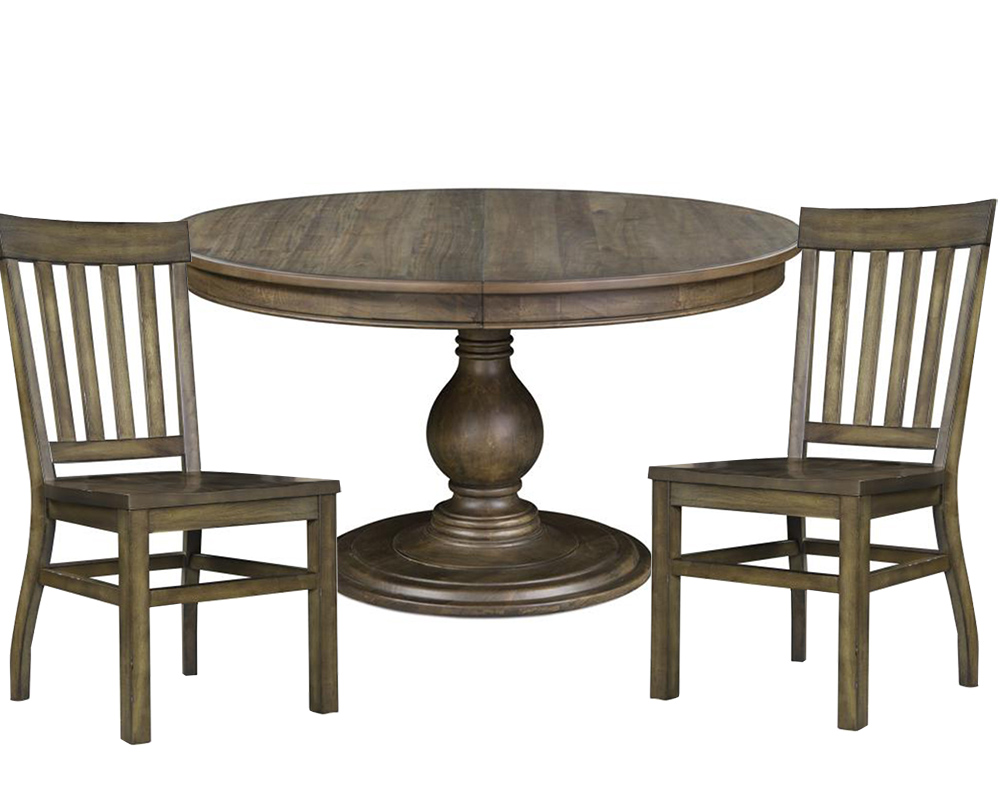 Dining set with round table karlin by magnussen mg d2471 22set for Dining table set