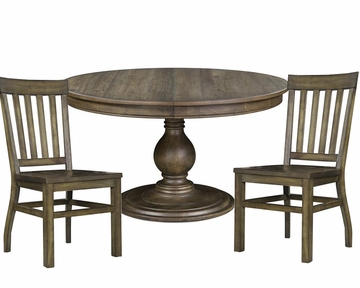 dining set with round table karlin by magnussen mg d2471 22set - Magnussen Dining Room Furniture