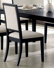 Dining Side Chair in Distressed Black  - Coaster CO-101562 (Set of 2)