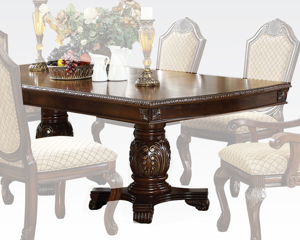 Dining table chateau de ville espresso by acme furniture for Furniture ville