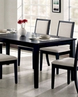 Dining Table in Distressed Black  - Coaster CO-101561