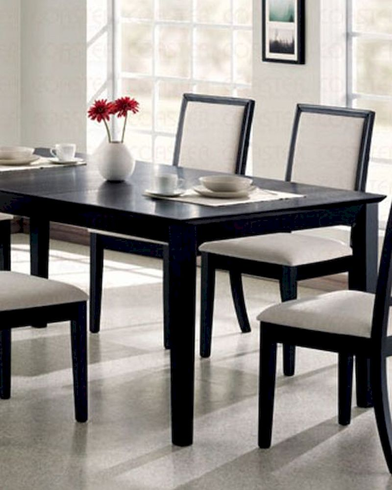 Dining Table In Distressed Black Coaster