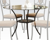 Dining Table w/ Clear Glass Top Desi by Acme Furniture AC70365