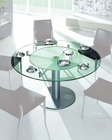 Dining Table w/ Frosted Glass Lazy Suzan 44DT50