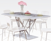 Dining Table w/ Glass Insert Bari by Acme Furniture AC70910