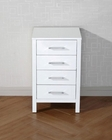 Dior 18in White Side Cabinet by Virtu USA VU-KSC-700-WH