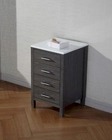 Dior 18in Zebra Grey Side Cabinet by Virtu USA VU-KSC-700-S-ZG