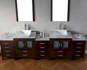 Dior Espresso 11in Double Bathroom Set by Virtu USA VU-KD-700110-WM-ES