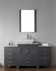 Dior Single Grey Bathroom Set by Virtu USA VU-KS-70060-WM-ZG