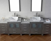 Dior Virtu USA Zebra Grey 11in Double Bathroom Set VU-KD-700110-WM-ZG
