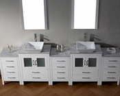 Dior White 11in Double Bathroom Set by Virtu USA VU-KD-700110-WM-WH