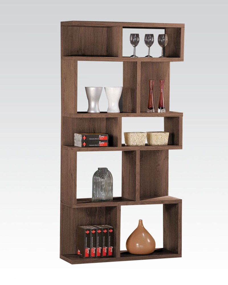 Display bookcase in dark oak by acme furniture ac92162 for Display home furniture