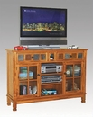Distressed Honey Oak TV Console SU-2799RO