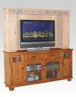 Distressed Honey Oak TV Console SU-3322RO-TC