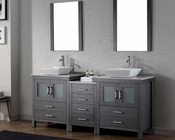 Double Bathroom Set in Grey Dior by Virtu USA VU-KD-70066-WM-ZG