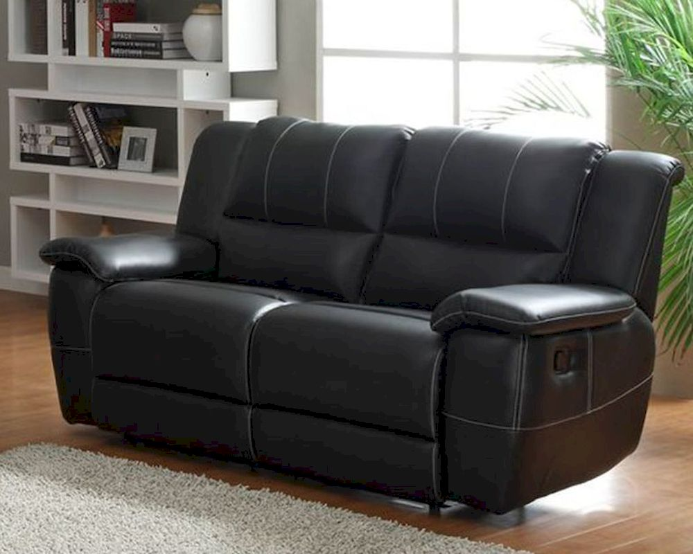 Double Glider Reclining Loveseat Cantrell By Homelegance El 9778blk 2