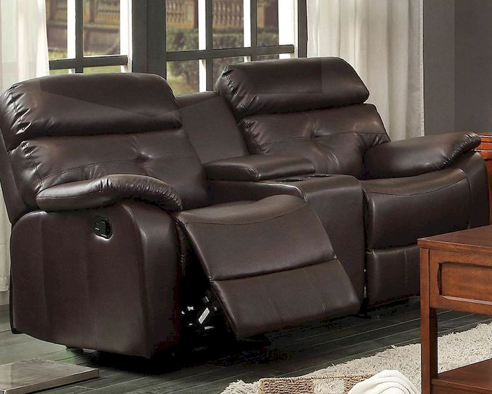 Double Glider Reclining Loveseat Evana By Homelegance El 8539 2