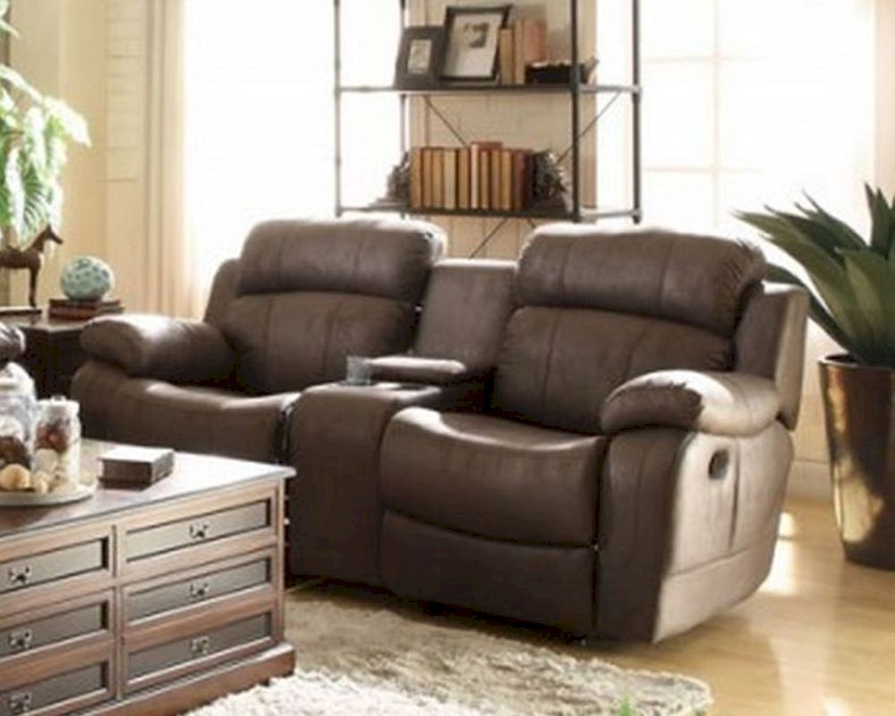 Double Glider Reclining Loveseat Marille By Homelegance El