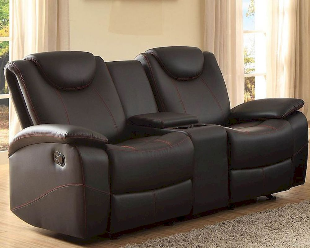 Double Glider Reclining Loveseat Talbot By Homelegance El 8524bk 2