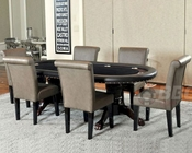 Double Pedestal Poker Table Set with Premium Chairs PT-77051P