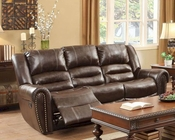 Double Reclining Brown Sofa Center Hill by Homelegance EL-9668BRW-3