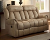 Double Reclining Loveseat Mankato in Beige by Homelegance EL-8535BE-2