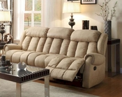 Double Reclining Sofa Mankato in Beige by Homelegance EL-8535BE-3