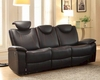 Double Reclining Sofa Talbot by Homelegance EL-8524BK-3