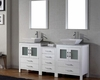 Double White Bathroom Set Dior by Virtu USA VU-KD-70066-WM-WH